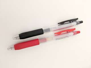 Zebra Sarasa Black and Red Pens 0.5