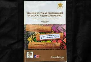 SHS Grade 11 Textbook - Komunikasyon at Pananaliksik sa Wika at Kulturang Pilipino