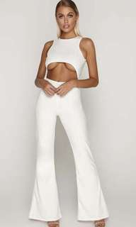 Tammy Hembrow - White Cut Out Jumpsuit
