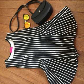 B&W Stripes Dress ❤️