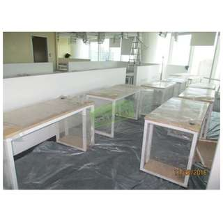 CUSTOMIZE OFFICE TABLES W METAL LEGS--KHOMI