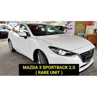 2016 Mazda 3 2.0 (A) 5 YEAR WARRANTY BY MAZDA