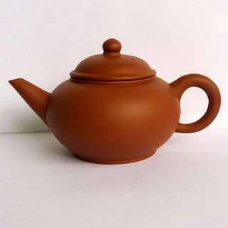 * 019 * 1970s Chinese Yixing Zisha Shuiping Teapot 早期宜兴紫砂水平茶壶