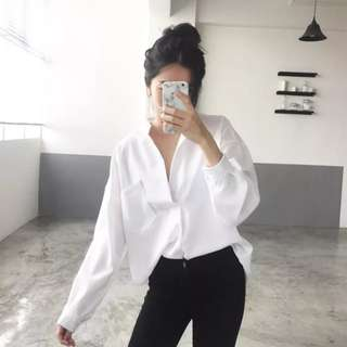 *NEW* Lois + tanya white comfy blouse