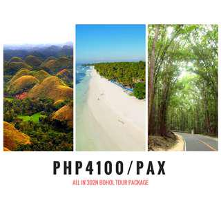 3D2N BOHOL in-demand TOUR PACKAGE (hotel+transfers+tours)