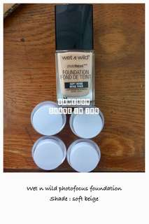 Wet n wild photofocus foundation share in jar