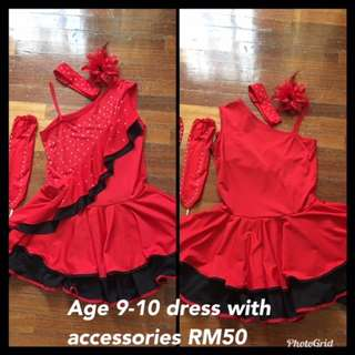 Latin Red Paso Doble Dress