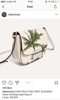 ZARA palm trees slingbag