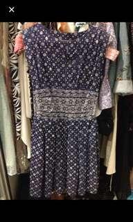 Batik Blue Dobi Dress