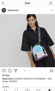 CHARLES&KEITH BACKPACK - holo