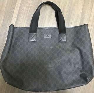 Gucci PVC黑色兩用斜揹手挽袋