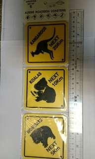 Aussie road sign 杯墊