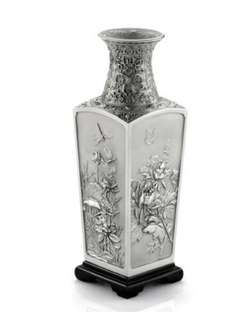 Selangor pewter vase of the four seasons