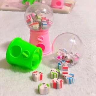 🚚 Hello Kitty Eraser Mini Dispenser Vending Machine Toys