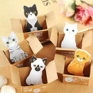 🚚 5 For $8 !! Cute Kitty Cat In The Box House It Sticky Note Pad