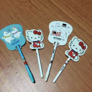 PEN GEL / MOOMIN DAN HELLO KITTY