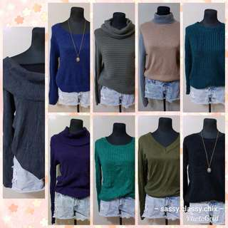 80-150 knitted pull over and cardigan. No haggling,lowest price posted na po