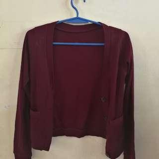 Red violet cardigan