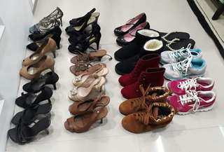 Assorted shoes/ sandals/ boots/ sneakers