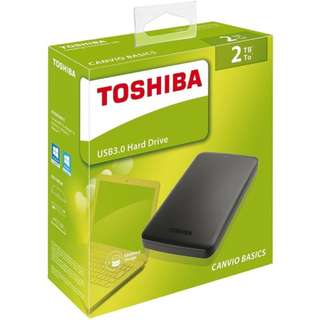 Toshiba Canvio Basics (new) 2TB USB 3.0 Portable External Hard Drive (Black), Super Speed Slim Storage