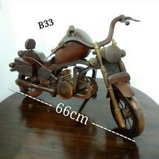 Vintage Motorbike Ornaments Decor