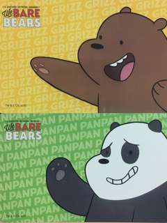 Limited Edition brand new We Bare Bears Design ezlink Cards for $11.90 EACH.