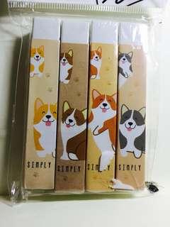 Corgi Dog Erasers