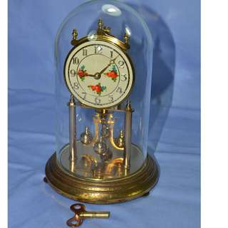 ANTIQUE VINTAGE KUNDO GERMANY MECHANICAL ANNIVERSARY CLOCK