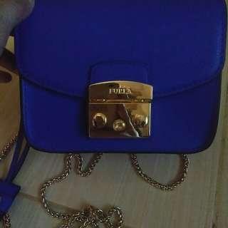 Mini furla blue electric