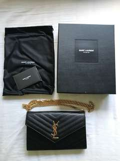 100% AUTHENTIC YSL MONOGRAM CLUTCH