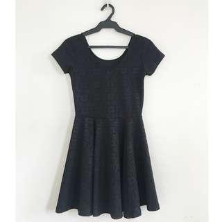 Fit and Flare Skater Dress (Black) - Black Sheep