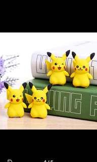 Pikachu erasers 36 pcs