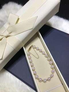 18K Gold ,Japanese AKOYA 8-8.5MM Bracelet