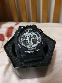 🚚 卡西歐G-SHOCK GA-100BW 手錶(有保固卡)