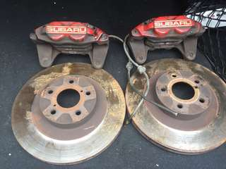 4pot SUBARU front brake set