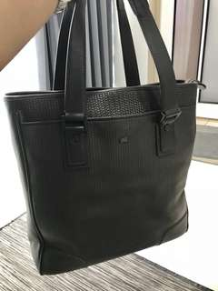 Authentic Braun Buffel Tote Bag in Dark Brown Leather