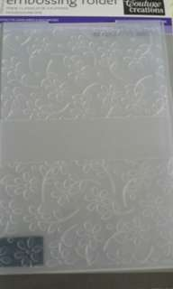 Embossing folder at 10$ each