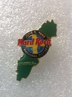 Hard Rock Cafe Pins - STOCKHOLM HOT & RARE 1998 NATIONAL DAY EVENT PIN!