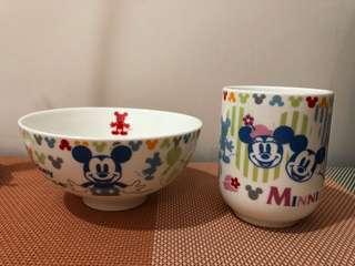 Disney 兒童碗、杯set