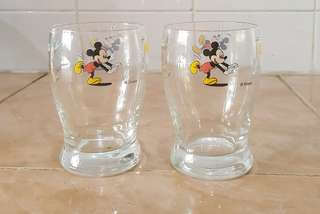 Vintage mickey mouse glass cup 2