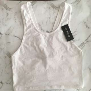 GLASSONS White Crop Top 👚