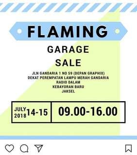Barang-barang di Carousell aku akan ada di Garage Sale, 14-15 July 2018
