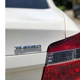 3D Alloy Metal Letter Turbo Car Emblem Badge Sticker Decal Decor