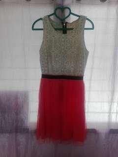 Tutu dress pink n white
