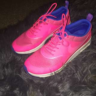 Pink and Blue Nikes