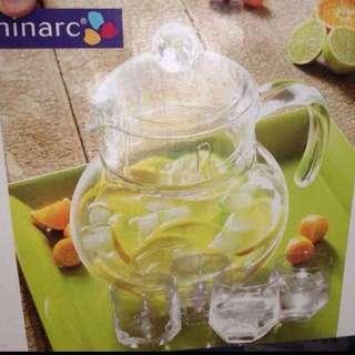 全新法國Lumina茶杯茶壺組馬可杯玻璃杯sp-9910 廚房/調理