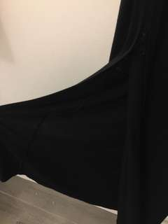 Black MAXI SKIRT with Zipper Slit