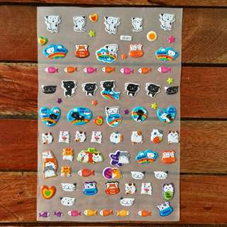 Puff Stickers (cats)