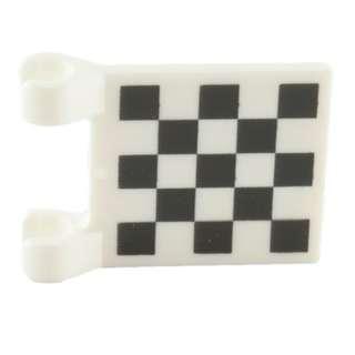 Lego Flag 2x2 Chequered Print White 1pc