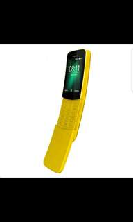 Nokia 8110 4g, Banana yellow with Traditional and Simplified Chinese osd and Chinese strokes on Keypad.
